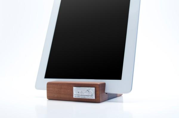 iPad stativ valnöt trä