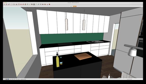 3D-modell av köket